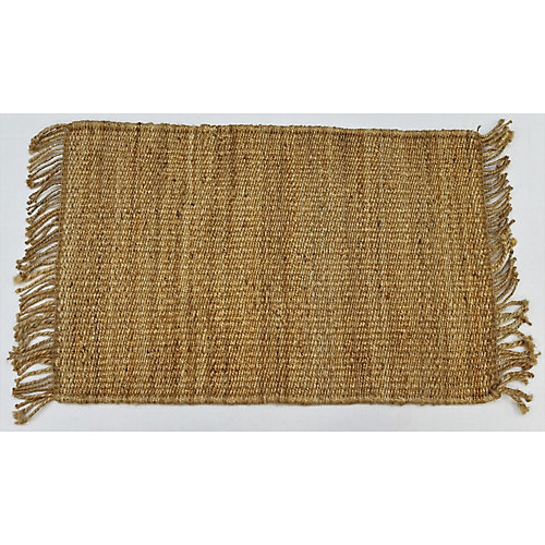 Hand Braided Jute Natural 1 ft. 7.7-inch x 2 ft. 7.5-inch Indoor Mat