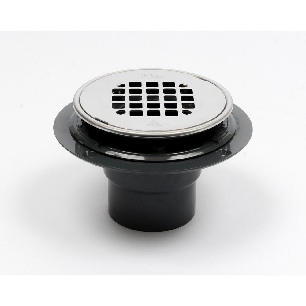Oatey Abs Rd Low Profile Drain Polished Ss Snap In Strainer W/Ring