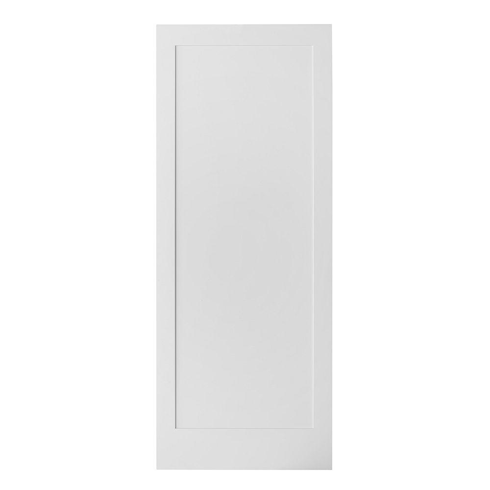 Colonial Elegance 33 inch X 84 inch Pure Glossy White Interior Barn Door Slab