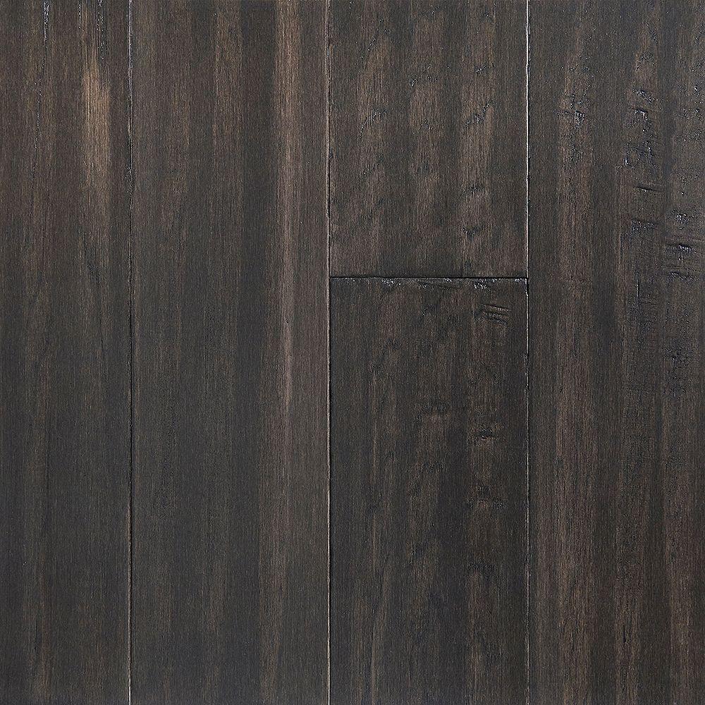 OptiWood Sample - Shadow Gray Waterproof Hardwood Flooring, 5-inch x 12-inch