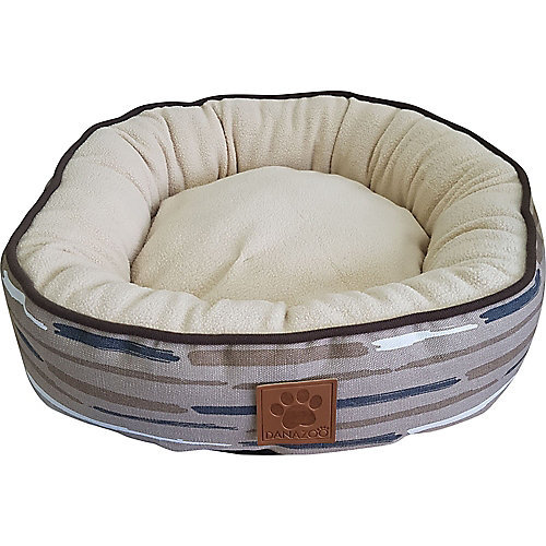 VICKY - ROUND CUSHY BED - BEIGE