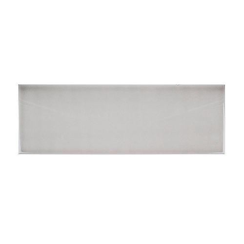 Jeffrey Court Carreau de céramique brillant en céramique Weather Grey, 6pox18po(12,75 pi2 /caisse)