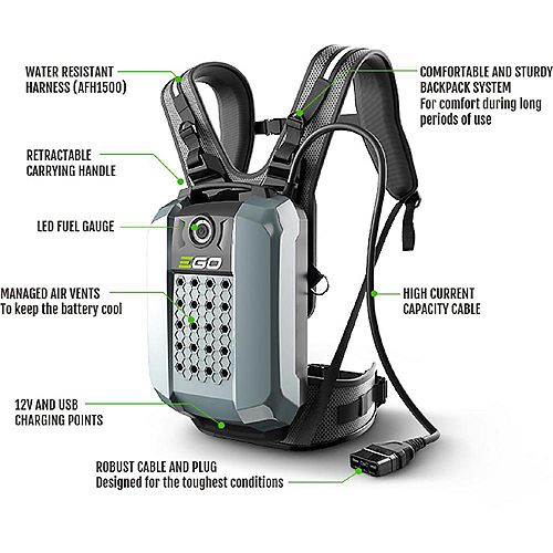 POWER+ 56V 28Ah Li-Ion Commercial Series Backpack Battery for EGO POWER+ Commercial Series Tools