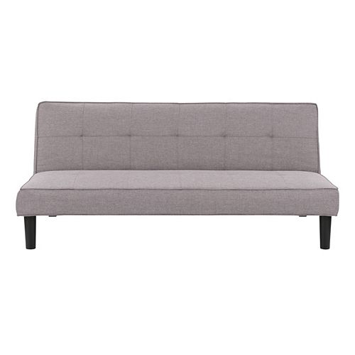 Convertible Futon Sofa Bed with Grey Khaki Mattress