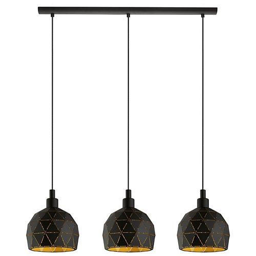 Roccaforte 3-Light Gold Finish Pendant Light
