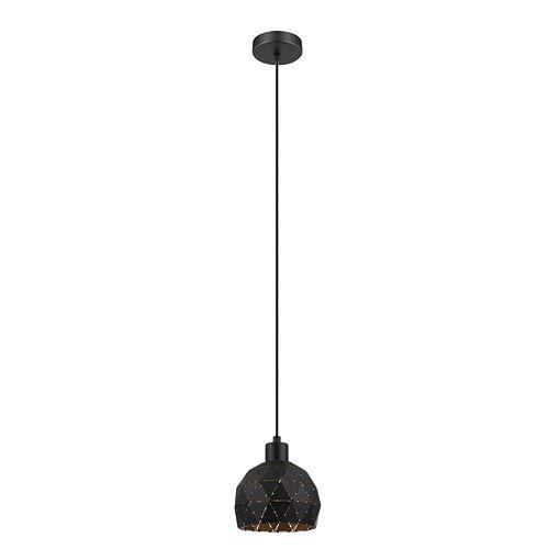 Roccaforte Mini Pendant Light 1L, Black & Gold Finish