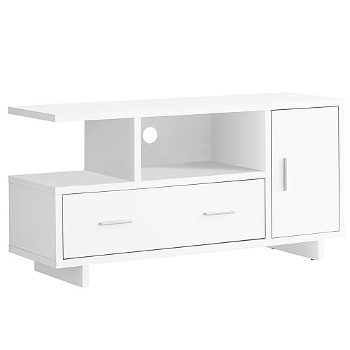 Tv Stand - 48 Inch L / White With Storage