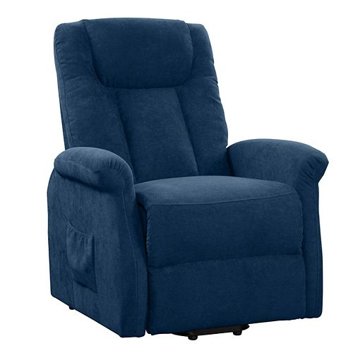Corliving Power Lift and Rise Recliner, Navy Blue