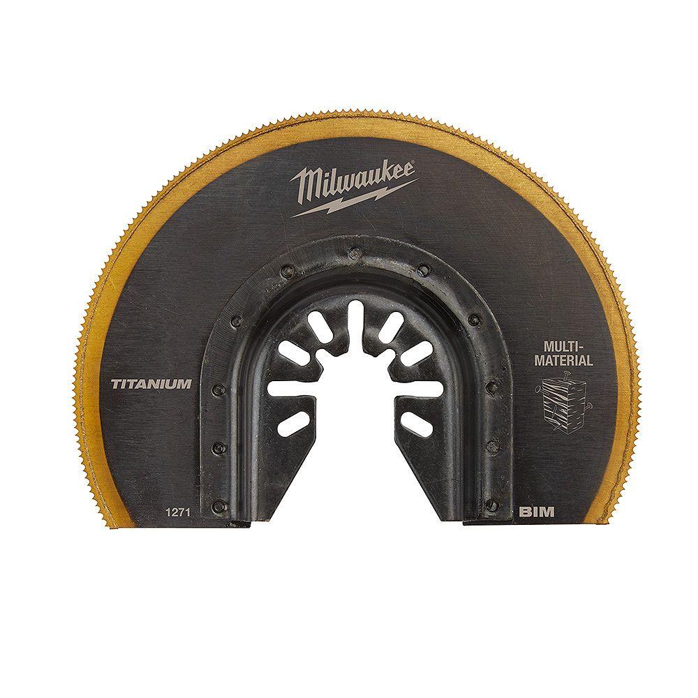 Milwaukee Tool 3-1/8-inch Dome Multi-Material Cutting Titanium Coated Bi-Metal Oscillating Multi Tool Blade (1 Pack)