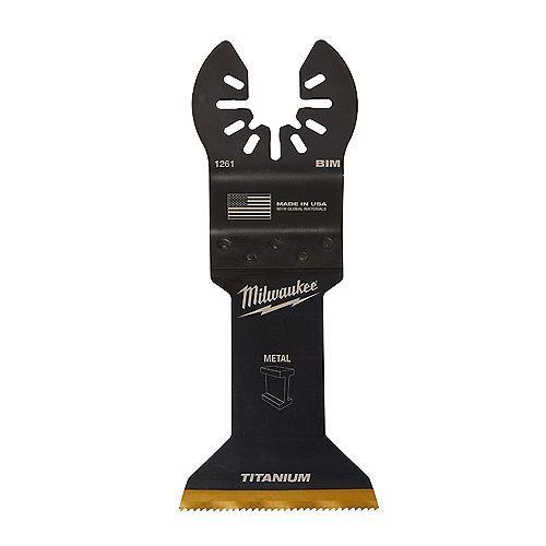 Milwaukee Tool 1-3/4-inch Metal Cutting Titanium Coated Bi-Metal Oscillating Multi Tool Blade (1 Pack)
