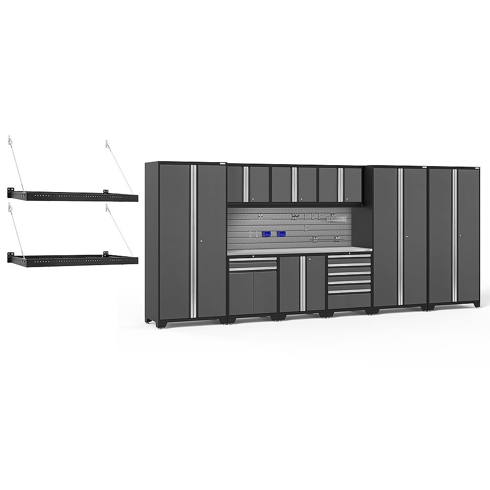 NewAge Products Inc. Pro Series Grey 10-Piece Cabinet Set With Accessories Kit
