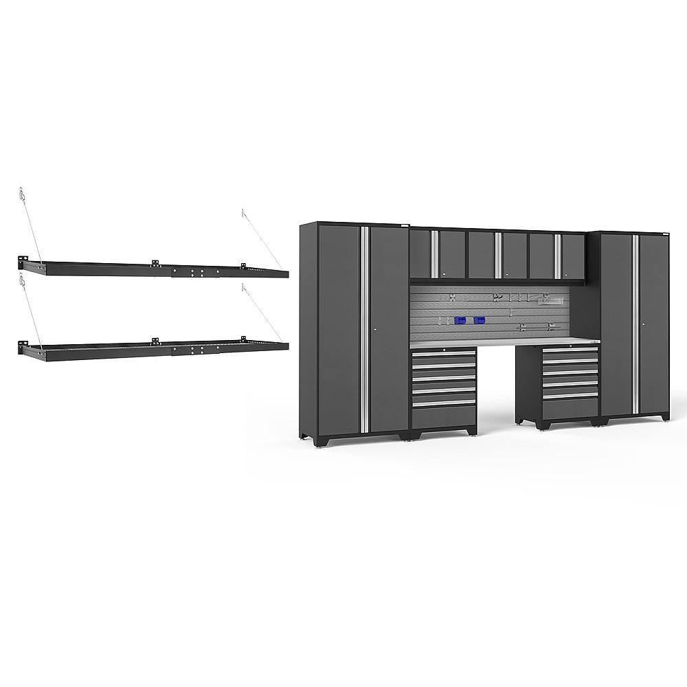 NewAge Products Inc. Pro Series Grey 8-Piece Cabinet Set With Accessories Kit