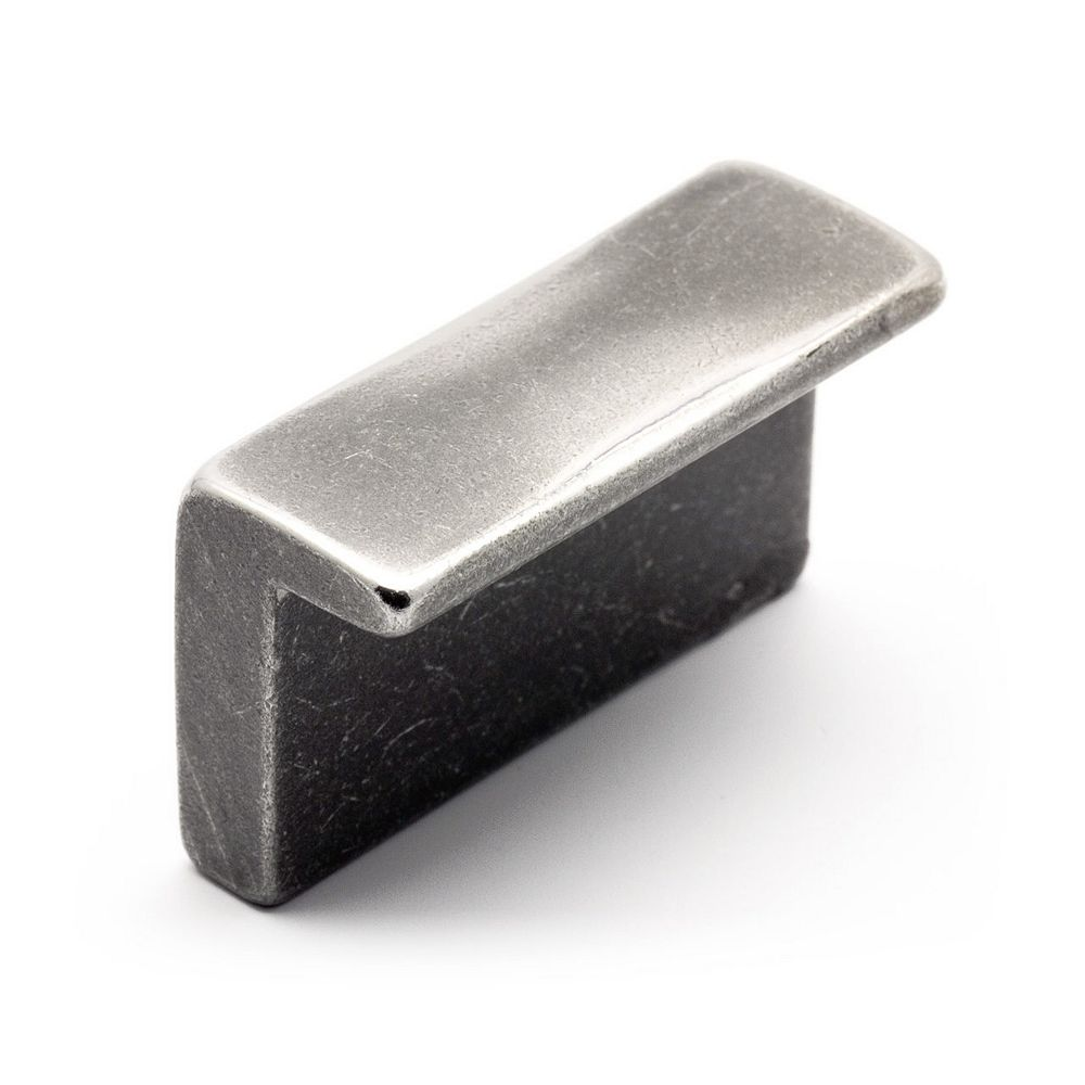 Richelieu Bouton Contemporain, Fer métallique brossé 1 21/32 in (42 mm) x 5/8 in (16 mm)