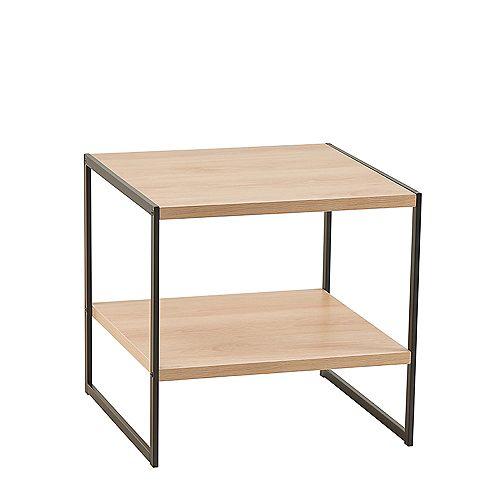 Closetmaid Mixed Material Side Table - Natural