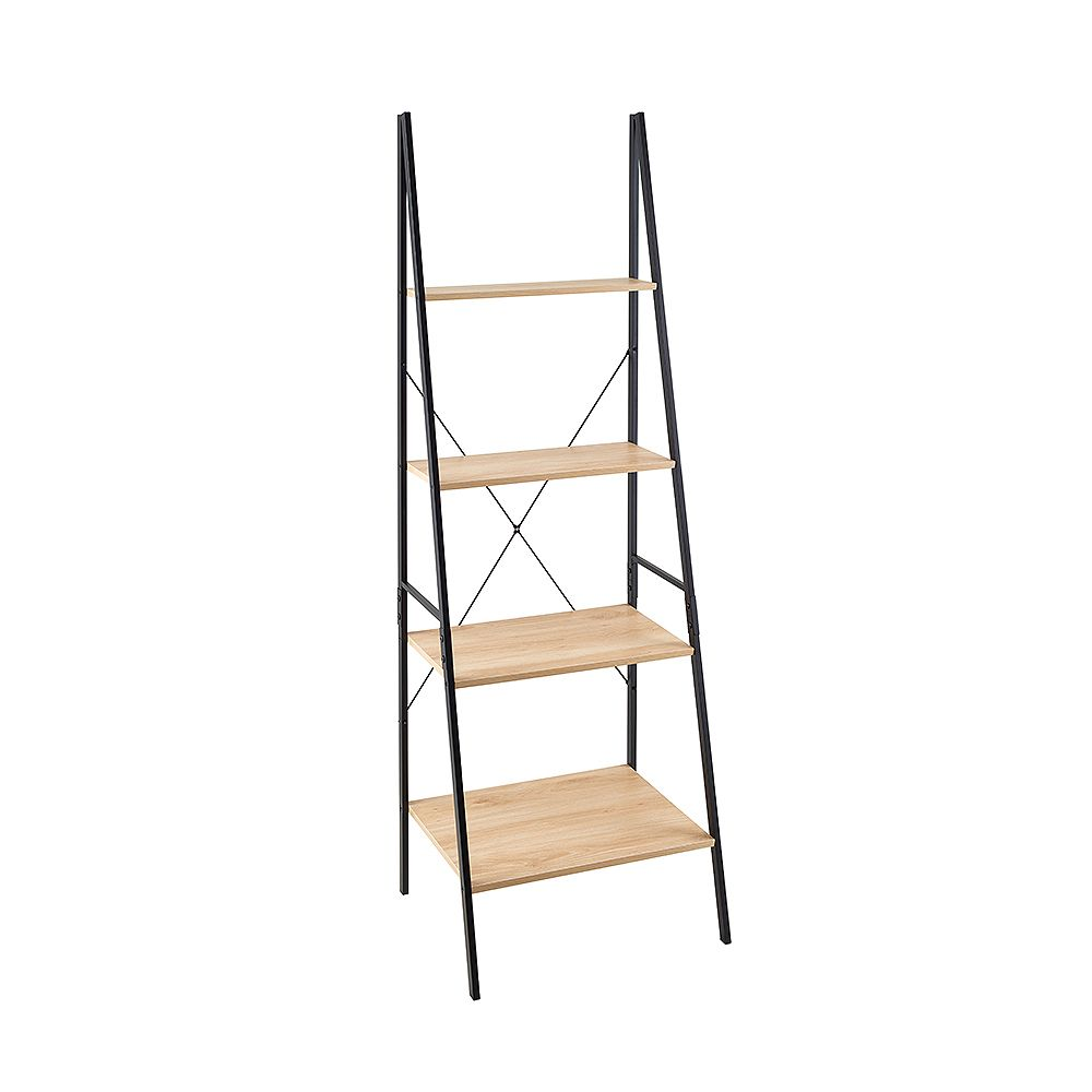 ClosetMaid Closetmaid Mixed Material Ladder Bookshelf - Natural