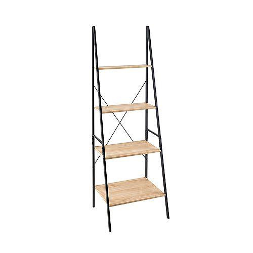 Closetmaid Mixed Material Ladder Bookshelf - Natural