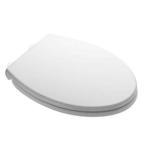 Elongated Non Slow Close Toilet Seat in White