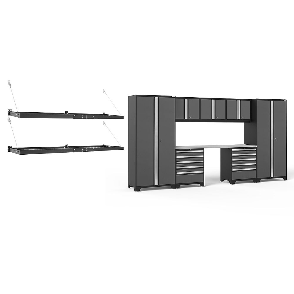 NewAge Products Inc. Pro Series Grey 8-Piece Cabinet Set