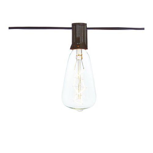 Extérieur / intérieur 10 pi. Tension de ligne ST40 Ampoule vintage à incandescence (10 têtes)