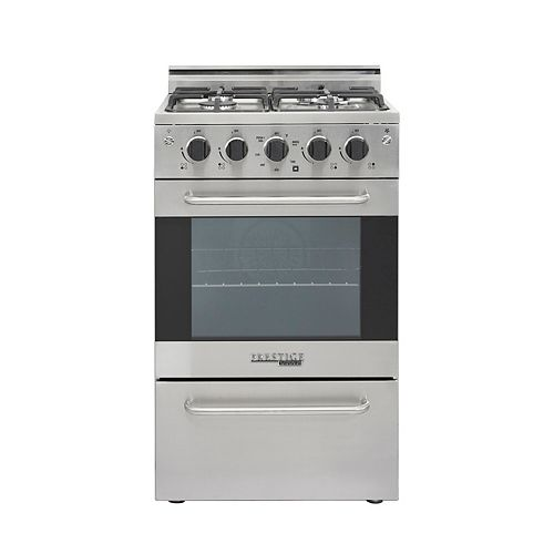 Unique Appliances 20-inch 1.6 cu. ft. Gas Convection Range Sealed Burners in Stainless