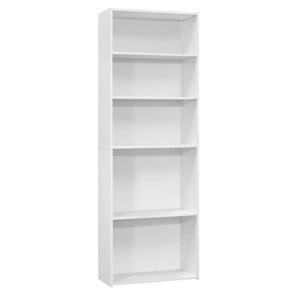 Monarch Specialties Bookcase - 72 Inch H / White With 5 Shelves