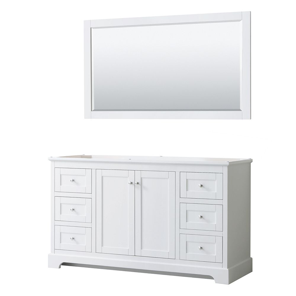 Wyndham Collection Avery 60 Inch Single, Home Depot Canada Bathroom Vanities Without Tops