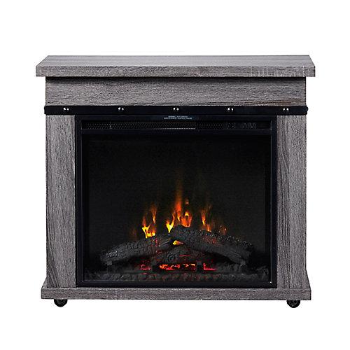 Morgan Electric Fireplace Mantel by C3, Charcoal Oak