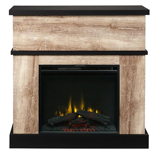 Dimplex Sarah Electric Fireplace Mantel by C3, Distressed Oak