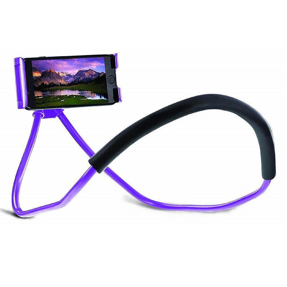 Aduro Lounger Universal Adjustable Neck Mount, Purple