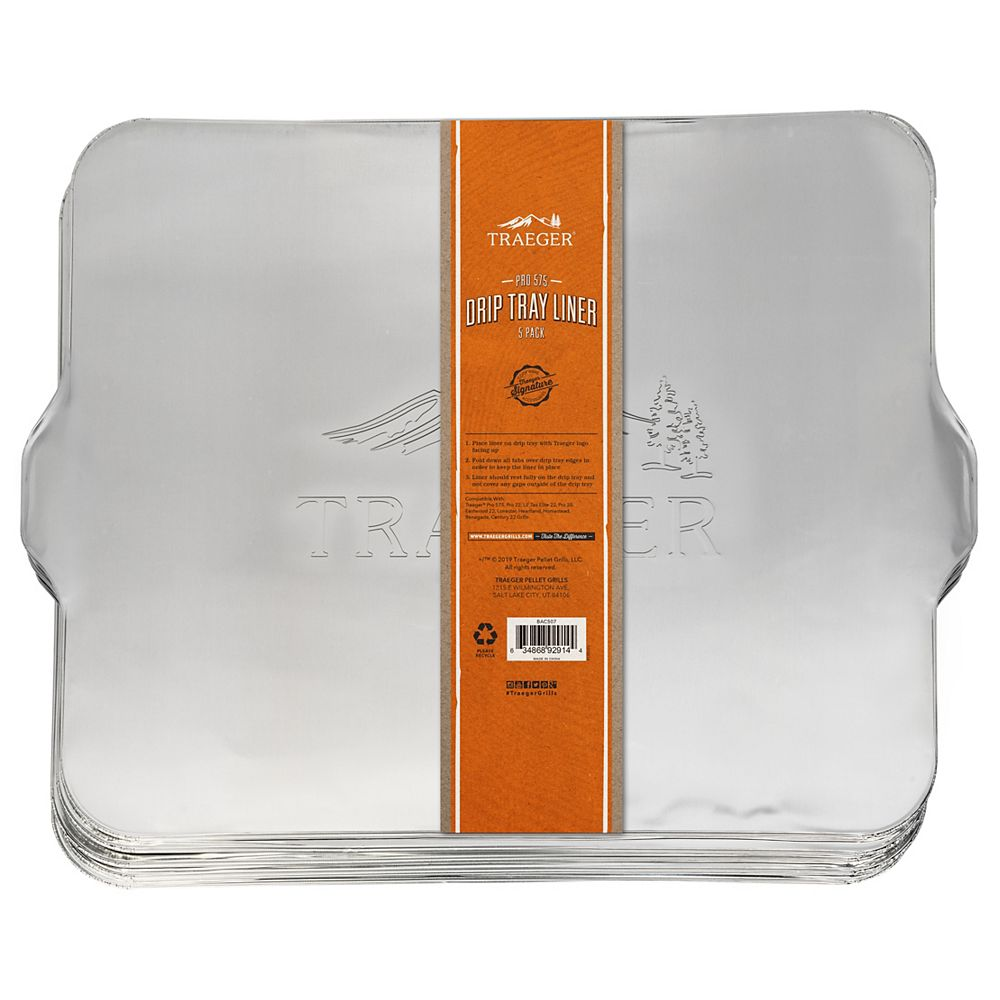 Traeger Grills Pro-575 x5 5-Pack Drip Tray Liner