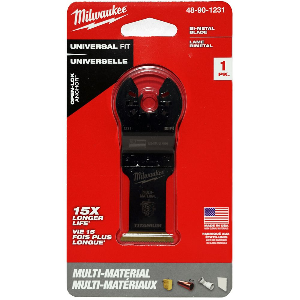 Milwaukee Tool 1-1/4-inch Wood Cutting High Carbon Steel Oscillating Multi Tool Blade (1 Pack)
