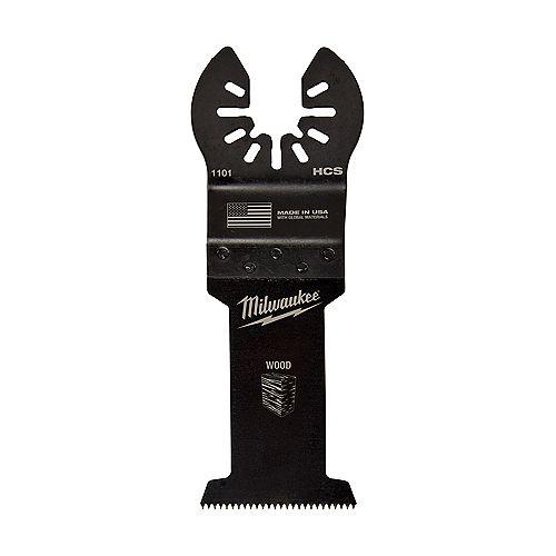 Milwaukee Tool 1-1/4-inch Multi-Material Cutting Titanium Coated Bi-Metal Oscillating Multi Tool Blade (1 Pack)