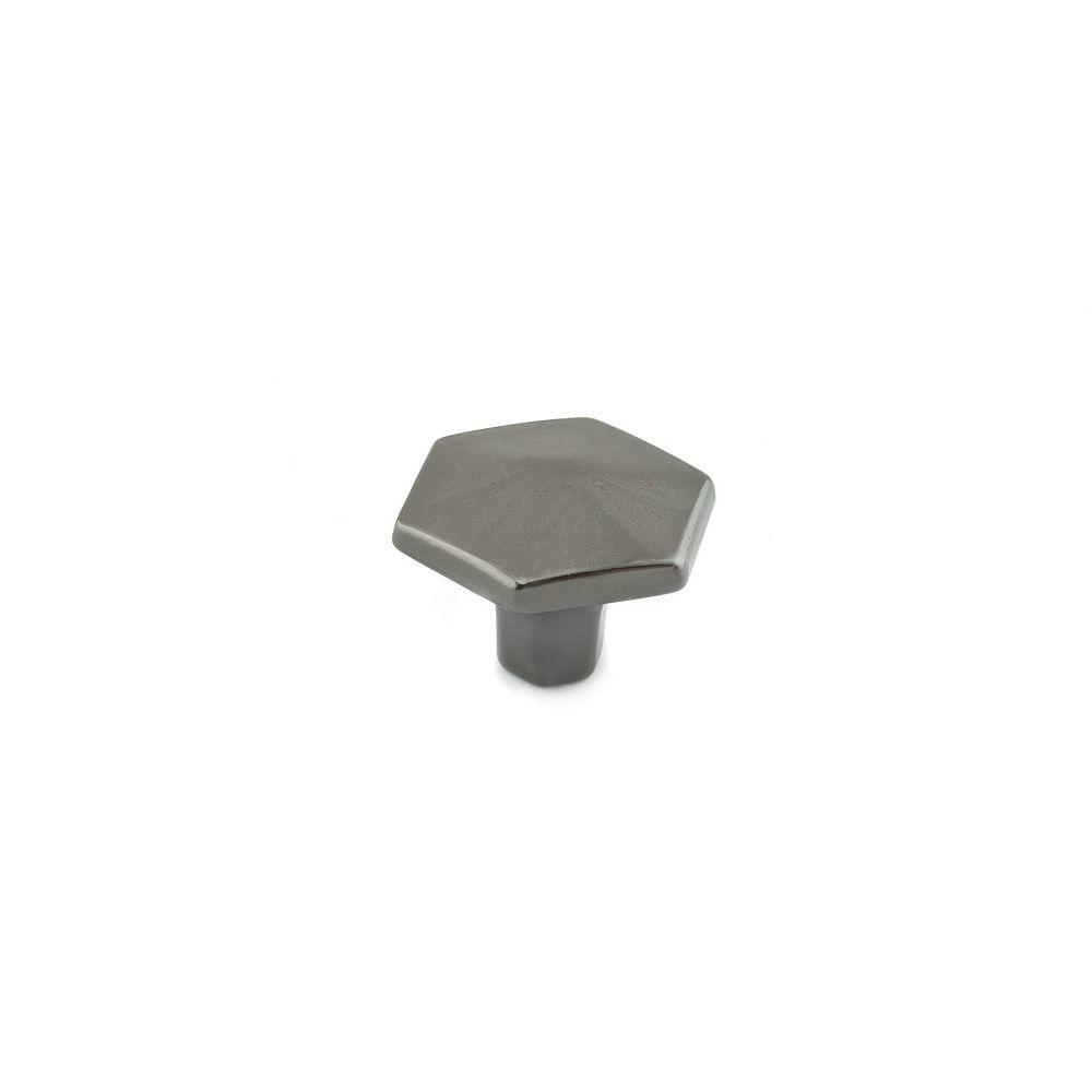 Richelieu 1 3/16 in (30 mm) Black Nickel Transitional Cabinet Knob