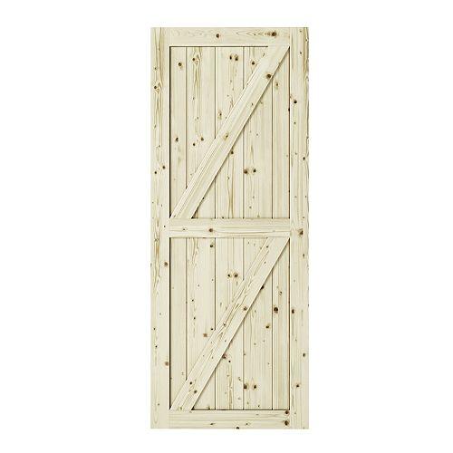 """Porte  de grange interior  HALF-CHECK 1 3/8"""" X 42"""" X 84"""""""