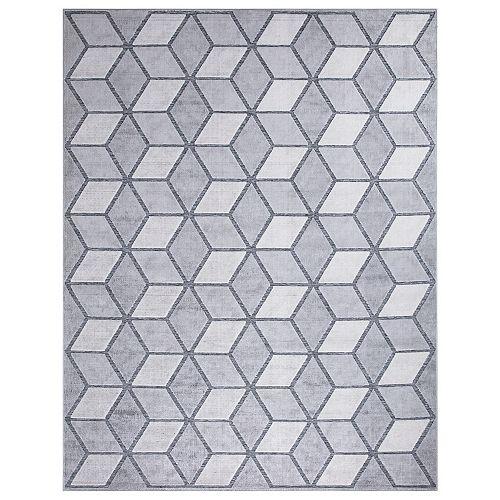 Kaleidoscope Grey 5 ft. 3-inch x 7 ft. 3-inch Outdoor Area Rug