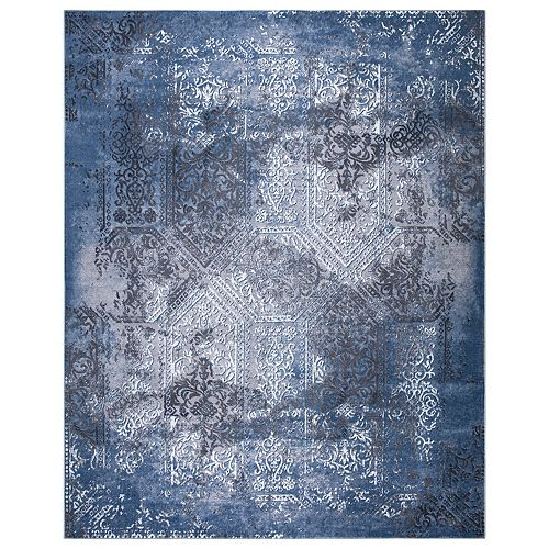 Aurora Blue 7 ft. 10-inch x 9 ft. 10-inch Outdoor Area Rug