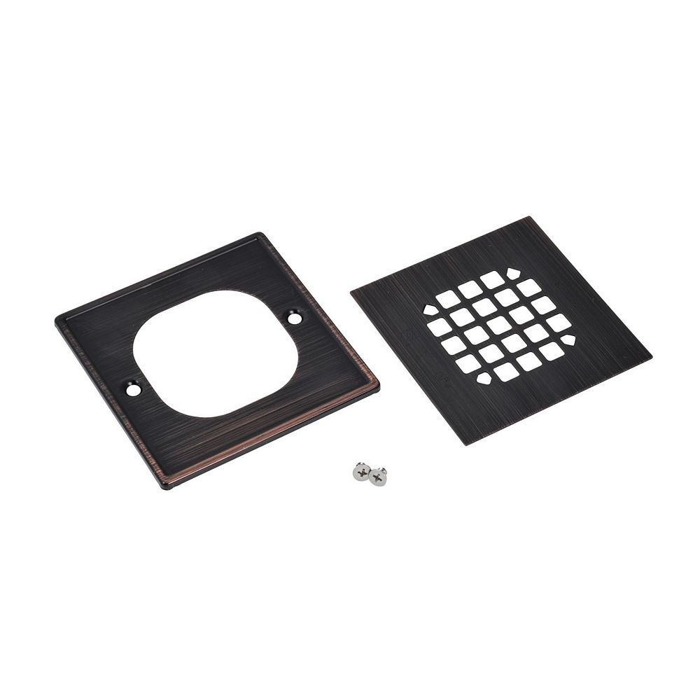 Oatey Square Snap In Shower Strainer W/Ring - Oil Rubbed Bronze