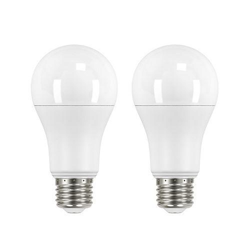 Ecosmart ECS 100W Equivalent 2700K A19 Dimmable LED Light Bulb (2-Pack)