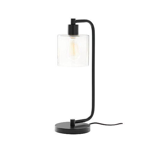 1-lumière avec lampe clear Glass Table