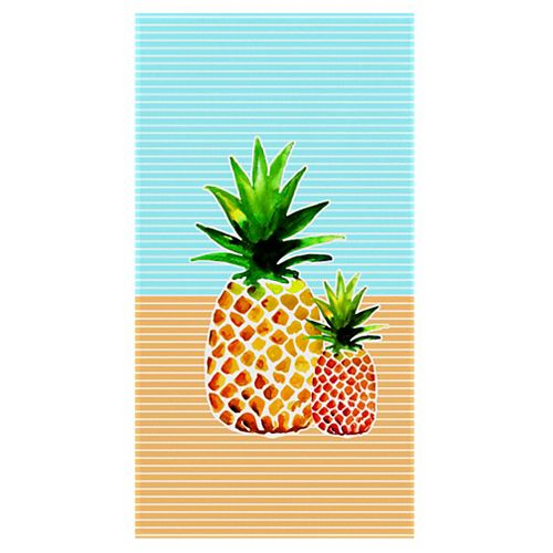 Pineapple 34-inch x 64-inch Digital Printed Beach Towel