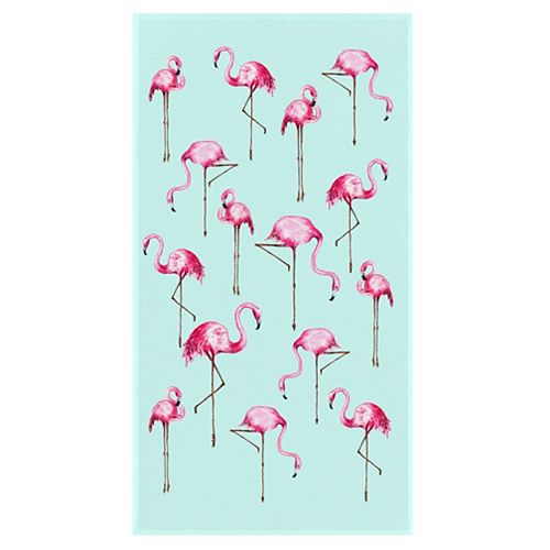 Flamingo 34-inch x 64-inch Digital Printed Beach Towel