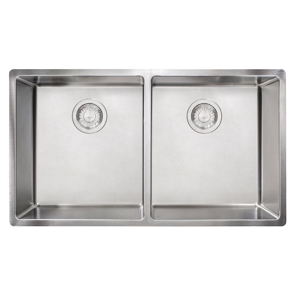 Franke Cube Undermount 18 Gauge Stainless Steel 31.5 inch Double Bowl Kitchen Sink