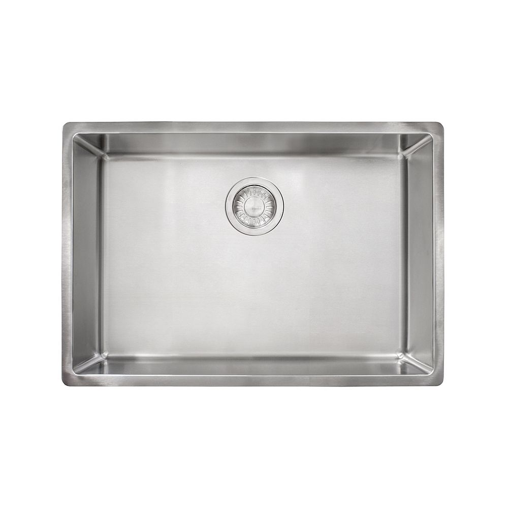 Franke Cube 18 Gauge Stainless Steel 26.625 inch Undermount Single Bowl Kitchen Sink