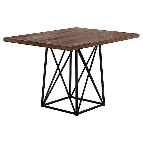 Dining Table - 36 Inch X 48 Inch  / Brown Reclaimed Wood-Look/Black