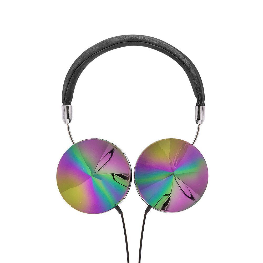 Art+Sound Casque d'écoute Iridescent avec microphone, noir