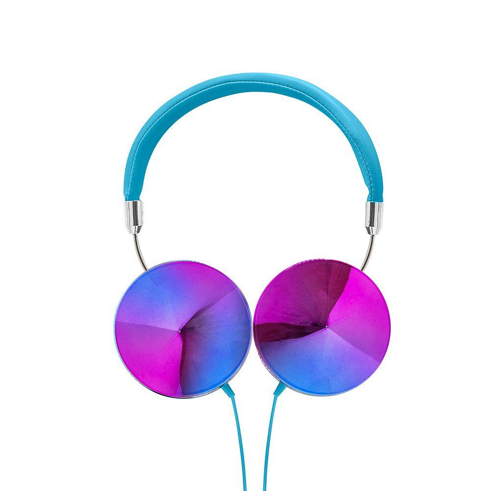 Art+Sound Casque d'écoute Iridescent avec microphone, bleu