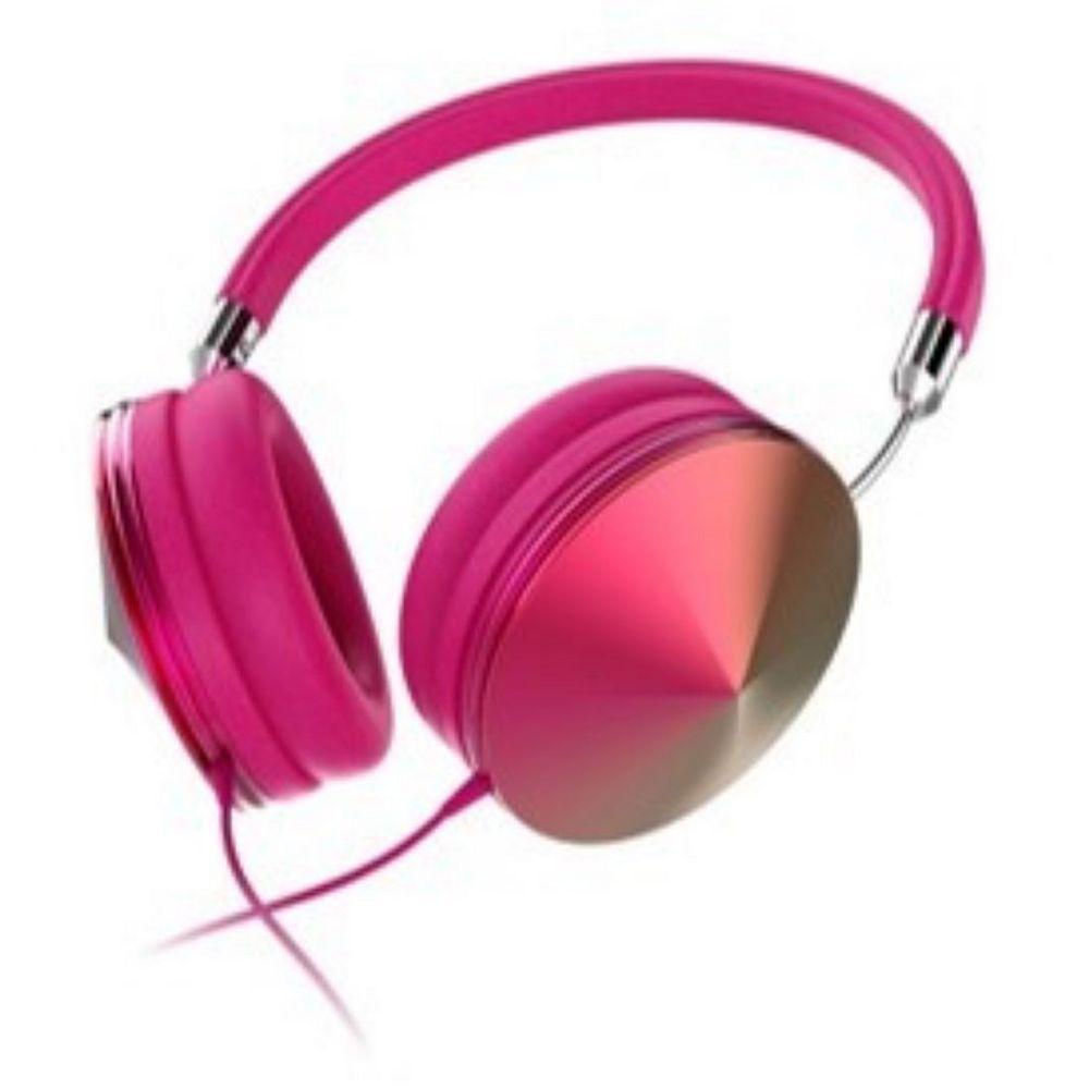 Art+Sound Casque d'écoute  Iridescent avec microphone, rose