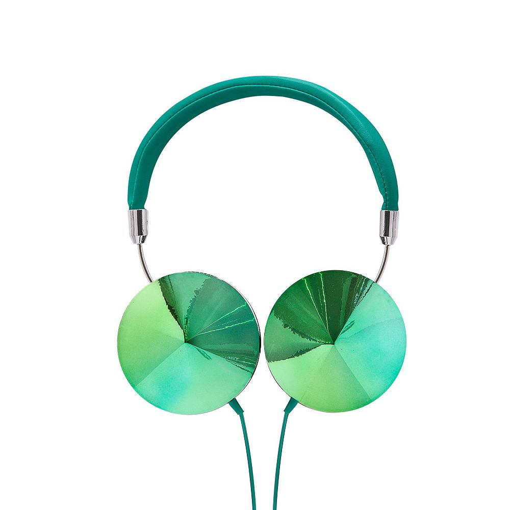 Art+Sound Iridescent Headphones with Mic - Teal