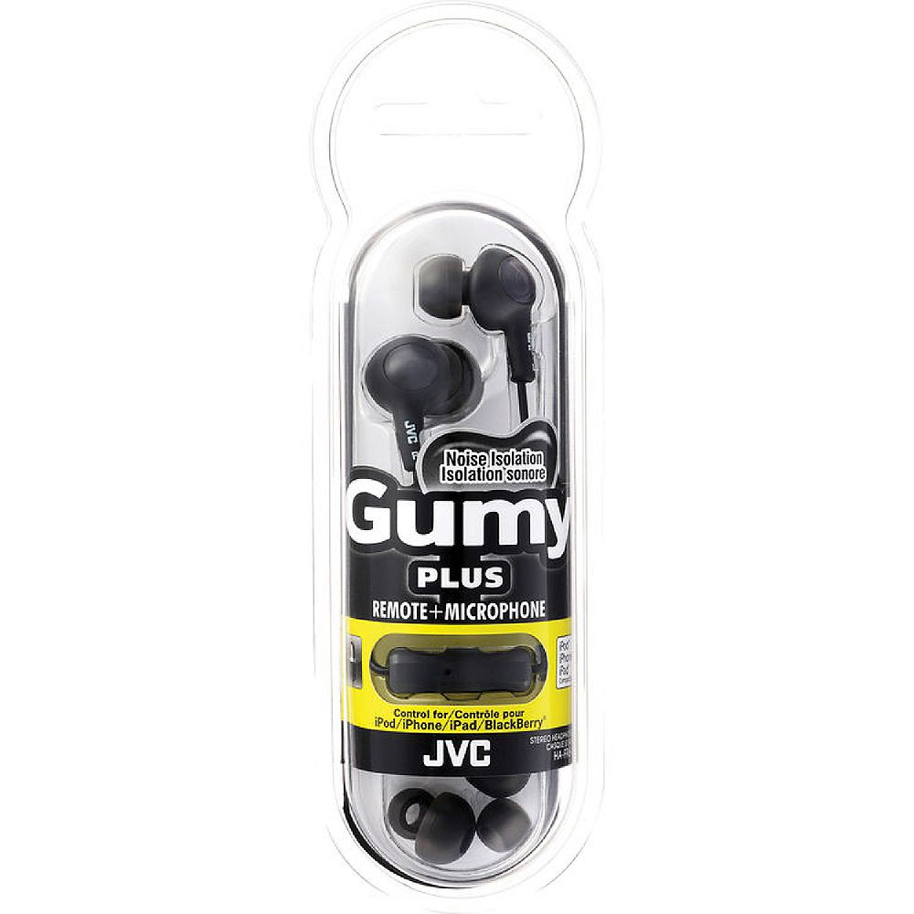 JVC Noise Isolation Stereo Headphones, Black