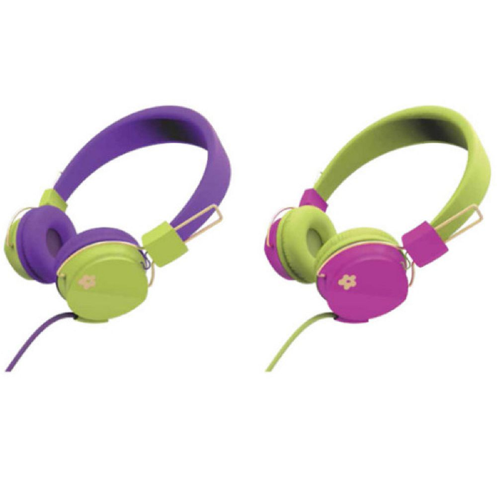 Limited Too Too Flower Bright On-Ear Headphones - Green